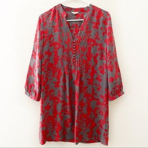 Fossil | Silk Button Down Tunic Floral Dress
